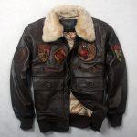 Blouson aviateur moto cuir
