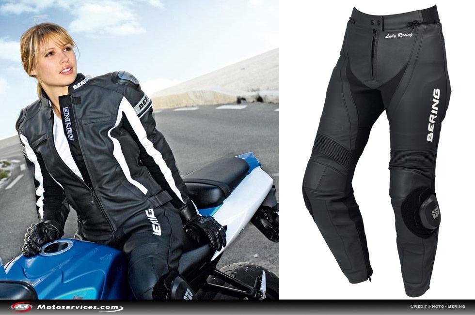 Pantalon cuir moto renforcé