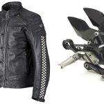 Blouson moto cuir femme triumph