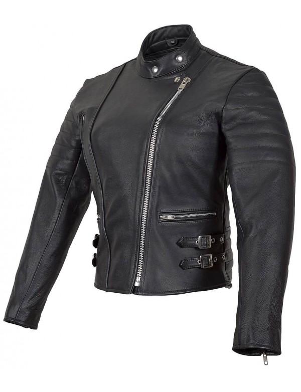 Blouson cuir moto discount homme