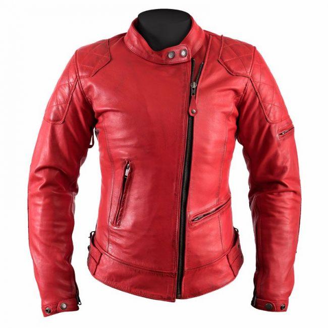Blouson cuir vintage moto femme