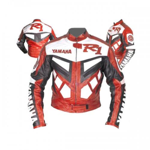 Blouson cuir moto homme yamaha