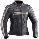 Blouson en cuir de moto femme