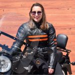 Blouson moto cuir femme léger