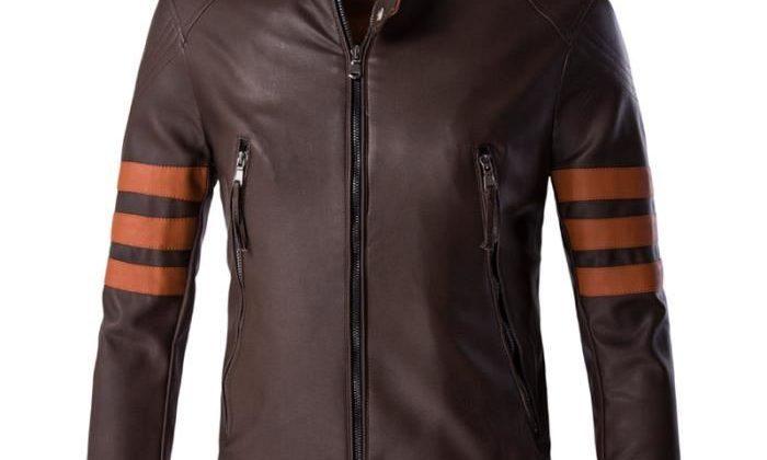 Blouson cuir moto mode