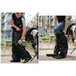 Pantalon moto zip latéral