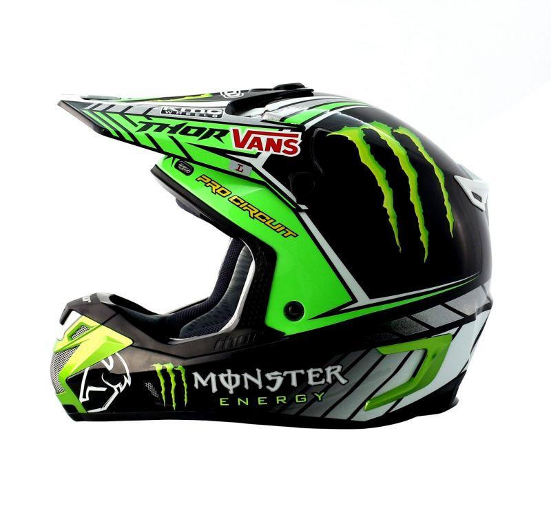 Equipement moto cross monster energie