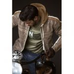 Blouson cuir moto retro vintage