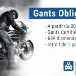 Homologation gant moto 2018