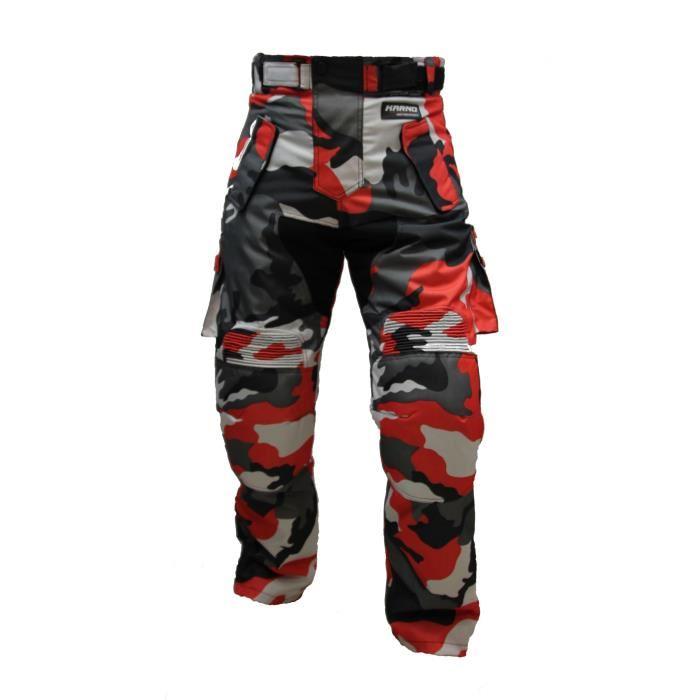 Pantalon moto camouflage homme