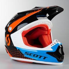 équipement moto orange noir