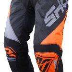 Pantalon moto noir et orange