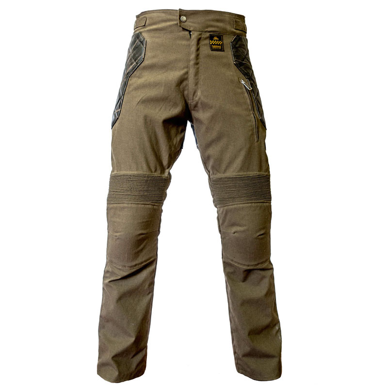 Pantalon moto cuir ou kevlar