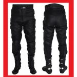 Pantalon de cuir moto homme