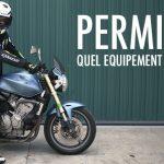 Budget permis moto equipement