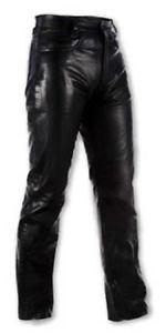 Pantalon cuir moto custom