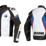 Blouson moto en cuir bmw