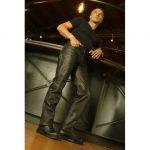 Pantalon moto cuir etanche