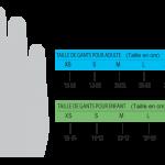 Guide taille gant moto cross